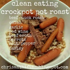 Clean Eating Crockpot Pot Roast recipe