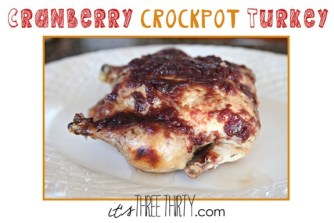 Cranberry Crockpot Turkey recipe