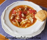 Crock Pot Cabbage, Pork and White Bean Soup recipe