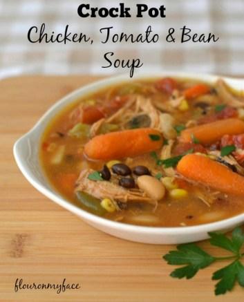 Crock Pot Chicken Tomato and Bean Soup recipe