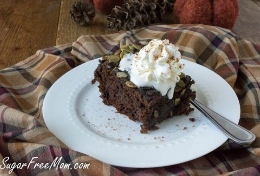Crock Pot Gluten Free Chocolate Pumpkin Cake recipe