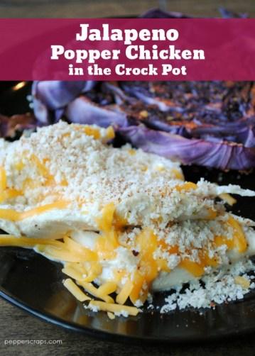 Crock Pot Jalapeno Popper Chicken recipe