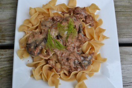 Crock Pot Real Beef Stroganoff recipe