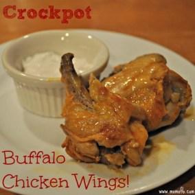Crockpot Buffalo Chicken Wings recipe