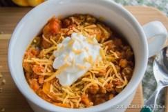 Crockpot Pumpkin Turkey Chili recipe