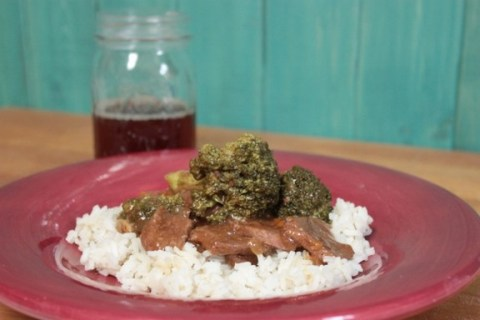 Crockpot Venison & Broccoli recipe