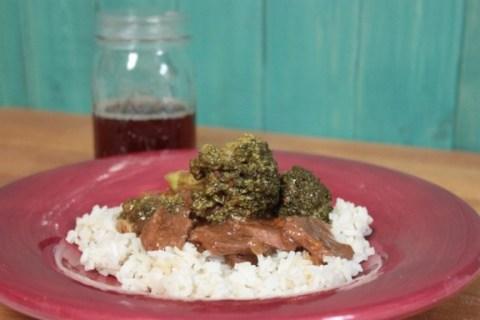 Crockpot Venison & Broccoli recipe