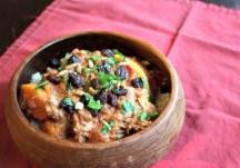 Crockpot West African Nut Butter Chicken (with Cauliflower Rice) recipe