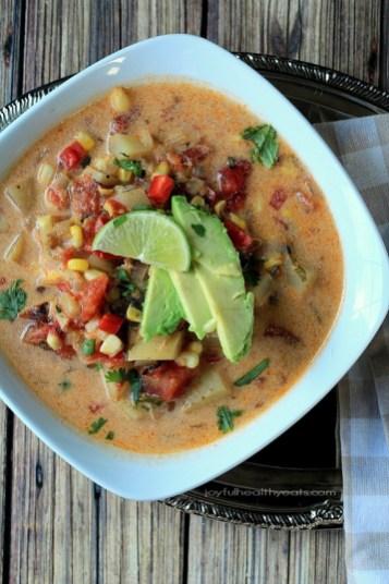 Dairy Free Crock Pot Southwestern Corn & Potato Chowder recipe