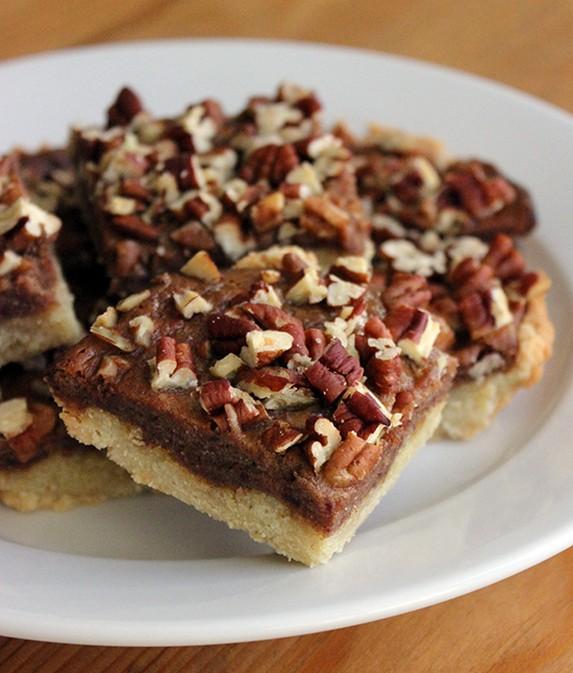 Low-Calorie Paleo Pecan Pie Bars by PopSugar