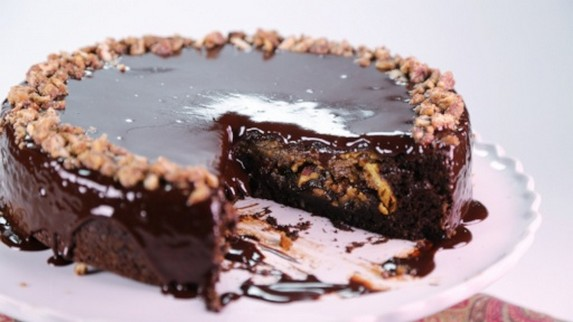 Thanksgiving Chocolate Pecan Pie by ABC