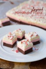 Layered Peppermint Fudge by A Spicy Perspective