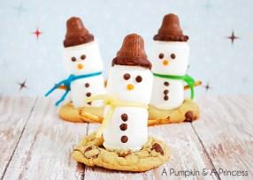 Marshmallow Snowman Treats by A Pumpkin & A Princess