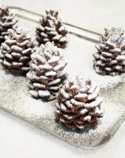 Quick & Easy Snowy Chocolate Pinecones by Handmade Charlotte