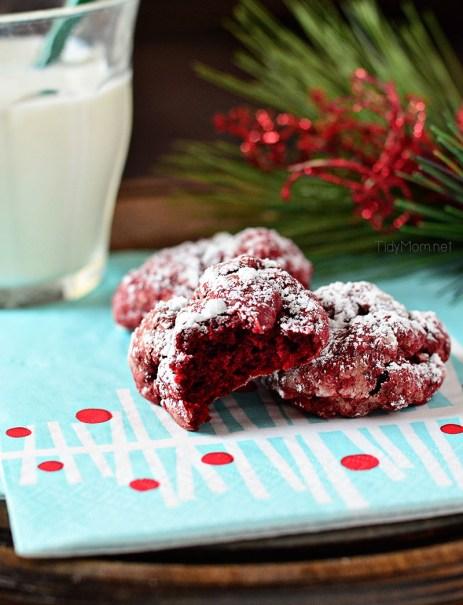 Red Velvet Gooey Butter Cookies by I Heart Naptime