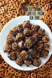 Salted Caramel Pretzel Pecan Bon Bons by Baker by Nature