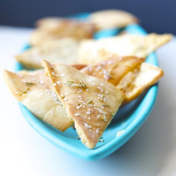 Baked Rosemary Pita Chips