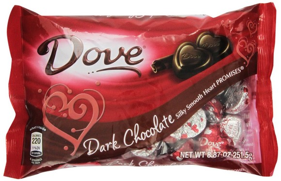 Dove Valentine's Heart Promises, Dark Chocolate, 8.87-Ounce Packages (Pack of 4)