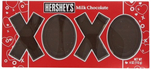 Hershey's Valentines Milk Chocolate XOXO Bar, 4 Ounce
