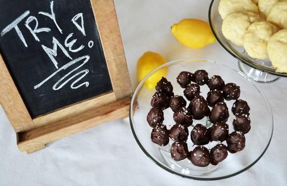 Raspberry Cream Filled Chocolates with Sea Salt