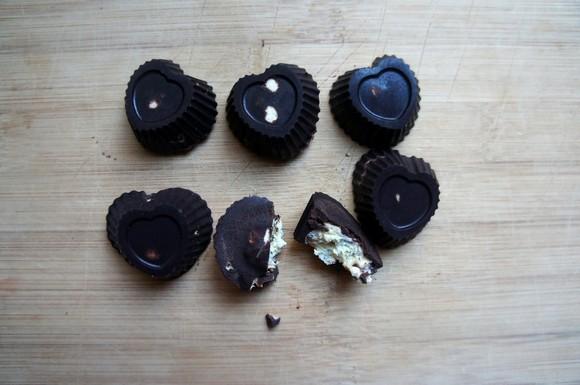 Vegan Dark Chocolates with Lavender Cream Filling