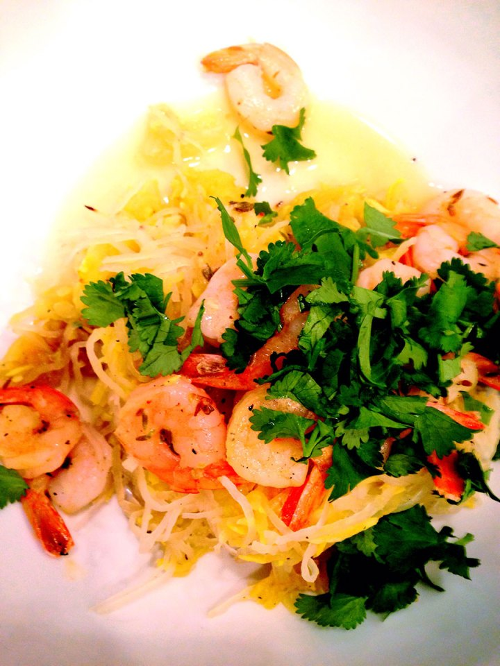 Cumin Scented Shrimp Scampi recipe