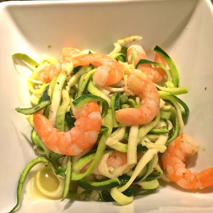 Shrimp Scampi with Zucchini Noodles recipe