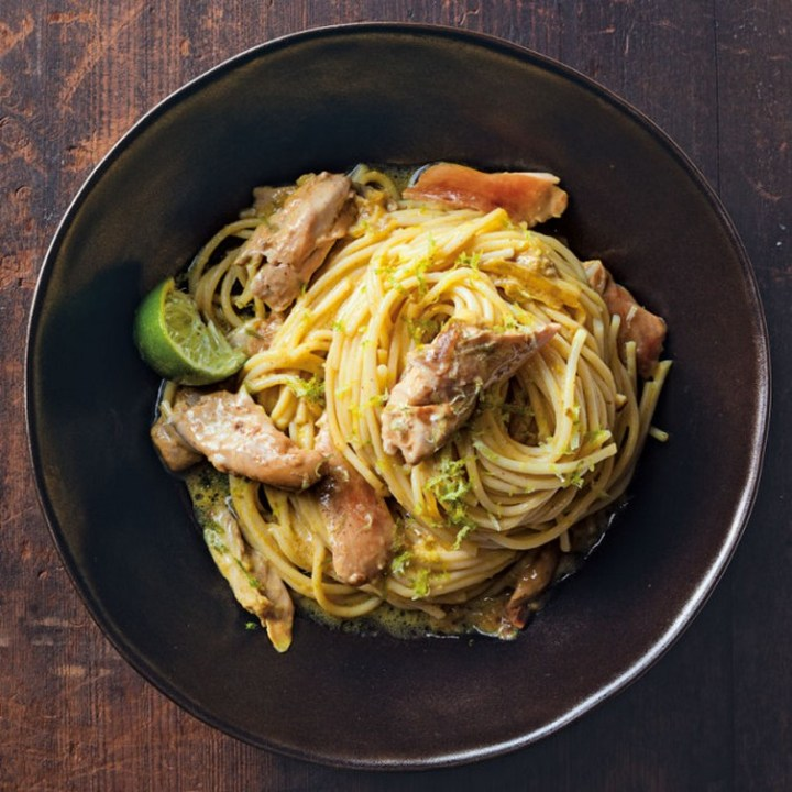 Burmese-Style Noodles with Chicken and Coconut
