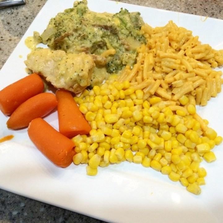 Crockpot Freezer Meal - Cheesy Chicken, Potatoes & Broccoli