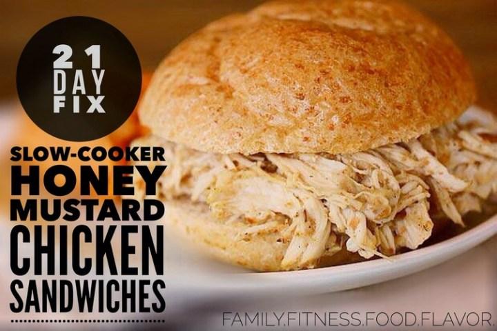 Slow-Cooker Honey-Mustard Chicken Sandwiches