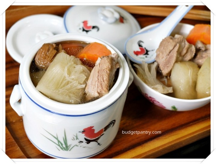Slow Cooker Shark's Fin Melon Pork Rib Soup