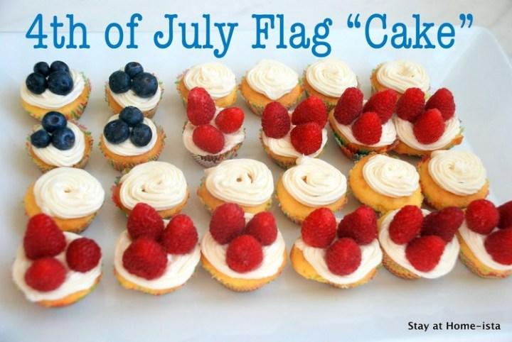 July 4th Mini-Cupcake Flag 'Cake'
