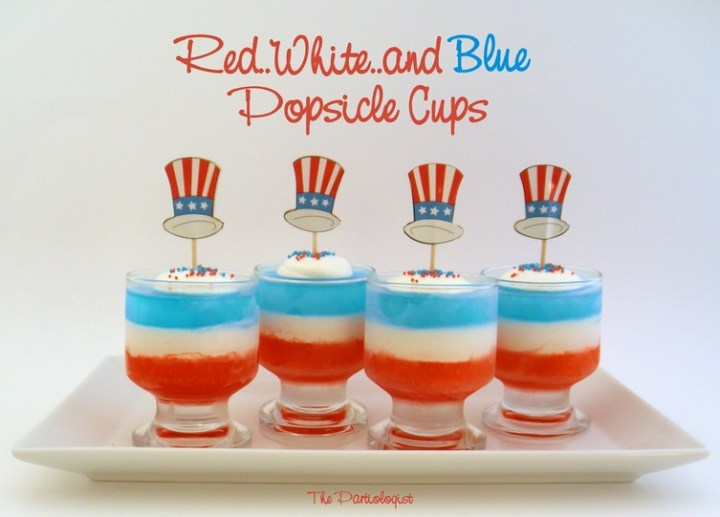 Red, White & Blue Popsicle Cups