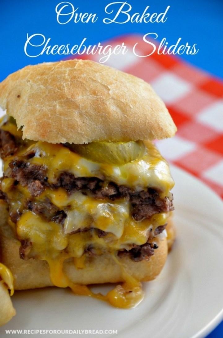 Oven Baked Cheeseburger Sliders