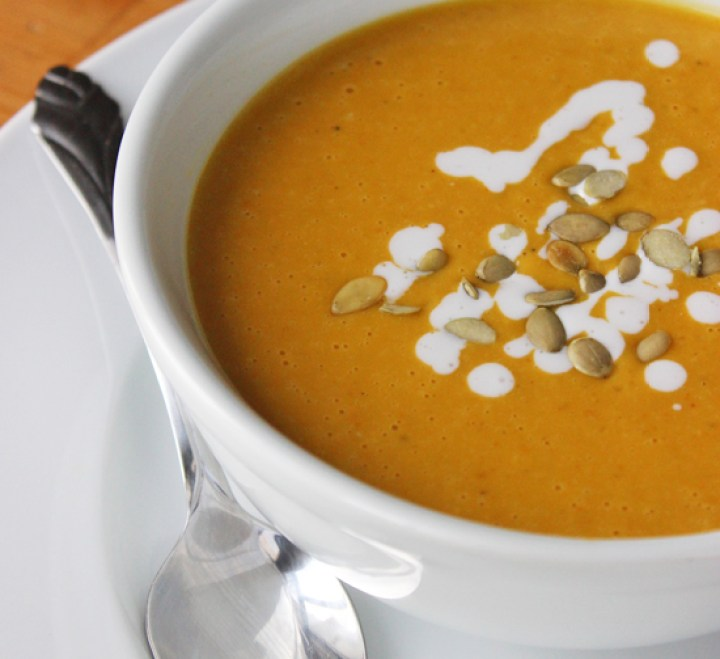 Healthy Pumpkin-Coconut Bisque