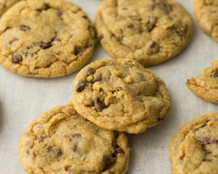 Mini Pumpkin Chocolate Chip Cookies