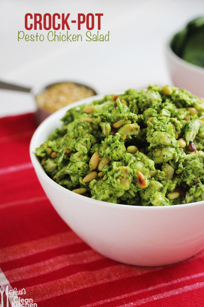 Crock-Pot Pesto Chicken Salad