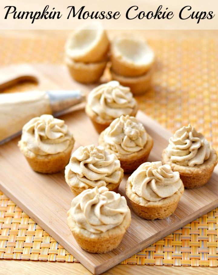 Pumpkin Mousse Cookie Cups Recipe