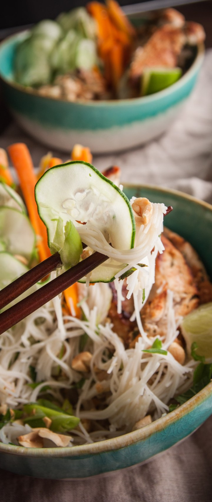Vietnamese Chicken Rice Noodle Salad