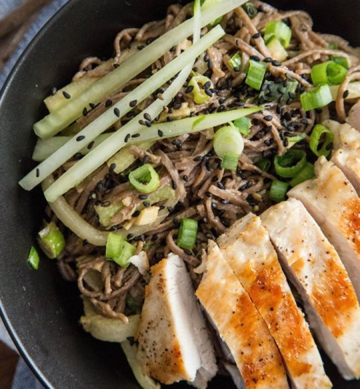 Cold Peanut Sesame Noodles with Chicken