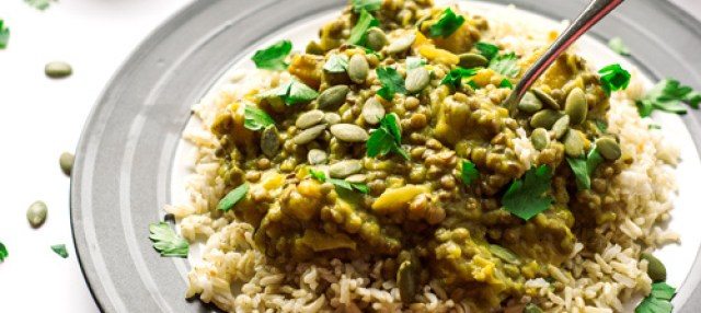 Pumpkin Apple Lentil Curry