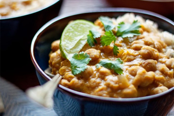 Slow Cooker Pumpkin, Chickpea & Red Lentil Curry