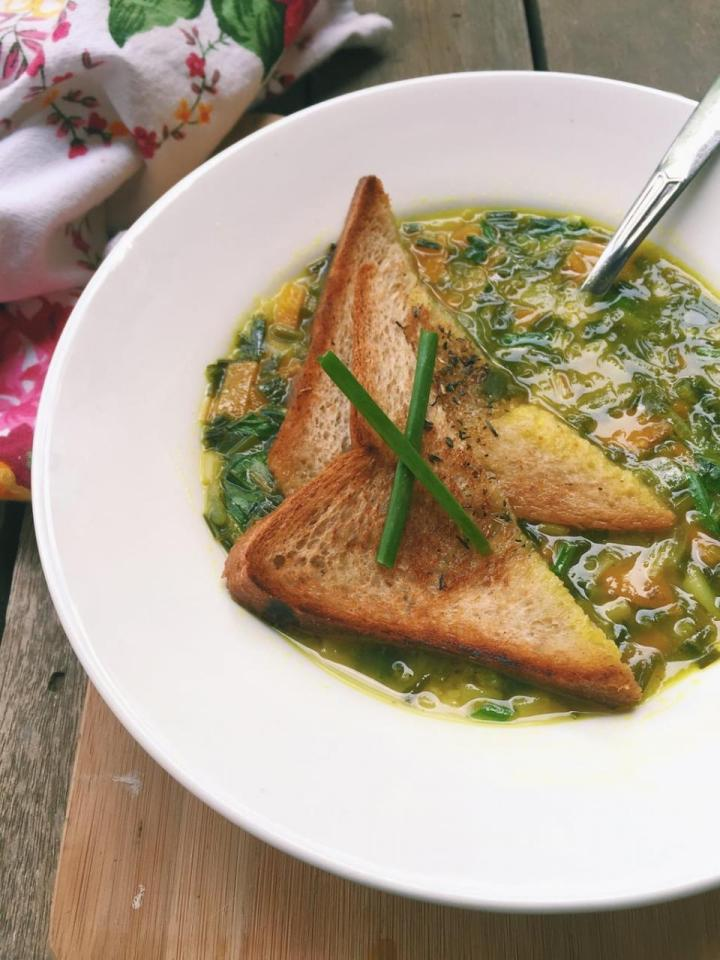 Spring Onion, Pumpkin and Lentil Soup Recipe