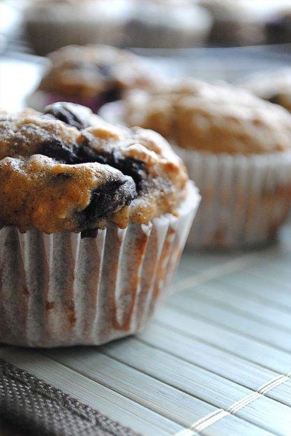 Banana Blueberry Crumb Muffins recipe (174 calories)