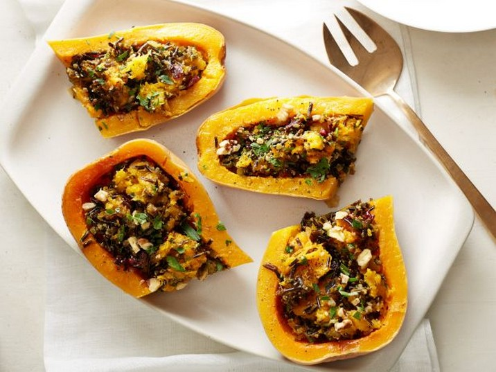 Vegan Wild-Rice-Stuffed Butternut Squash Recipe