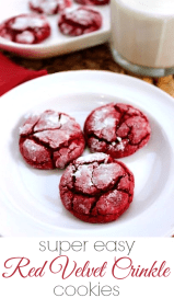 Easy Red Velvet Crinkle Cookies recipe