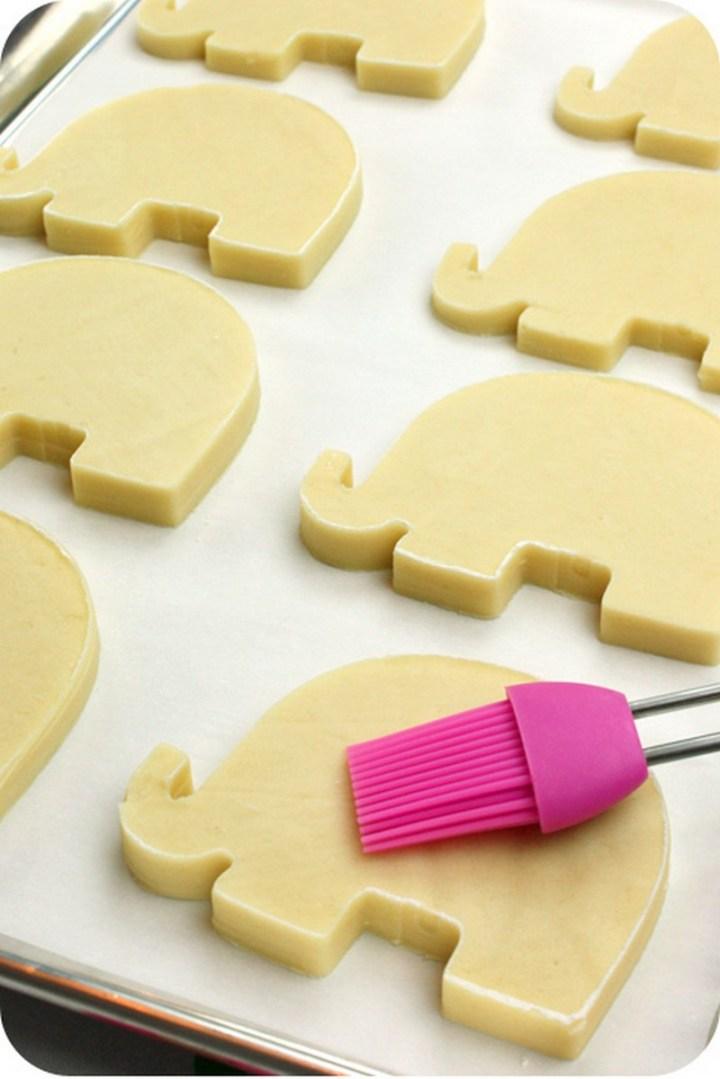 Dip cookie cutters in flour first to help sugar cookies retain their shape