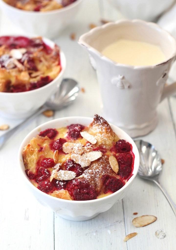 Raspberry & Custard Croissant Puddings Recipe
