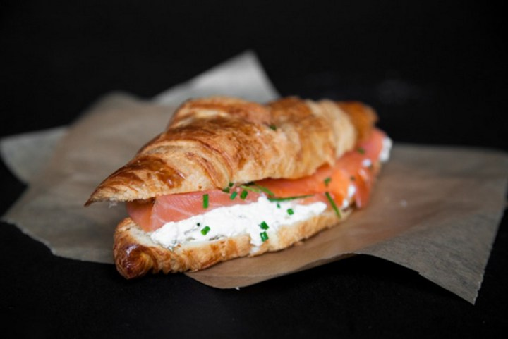 Smoked Salmon Croissant With Cream Cheese Recipe