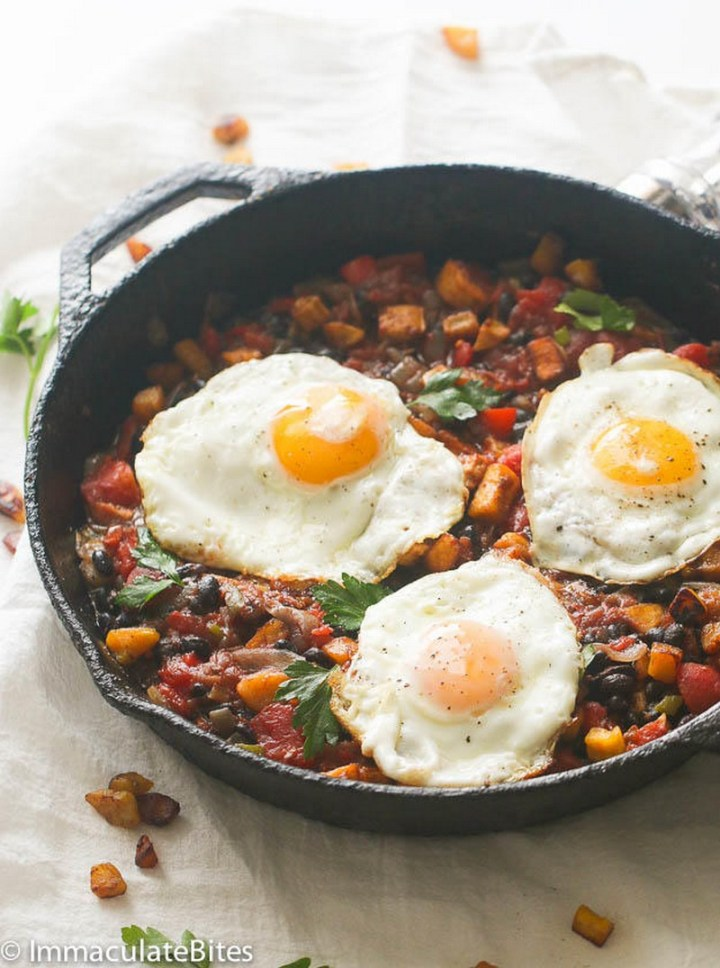 Sweet Plantain Hash & Eggs recipe